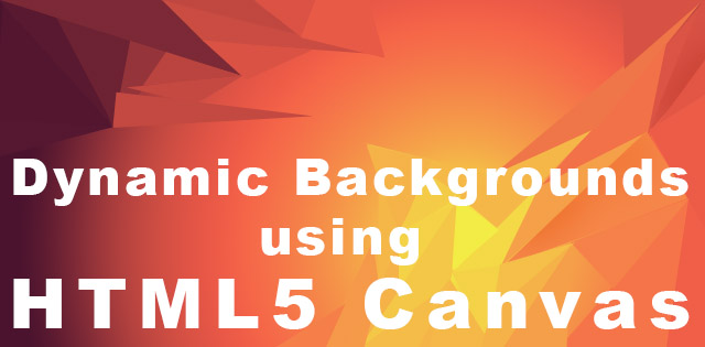 dynamic background html5 canvas