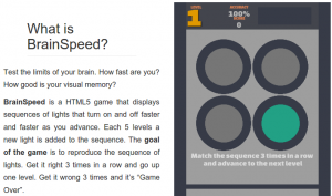 online brain training HTML 5 game