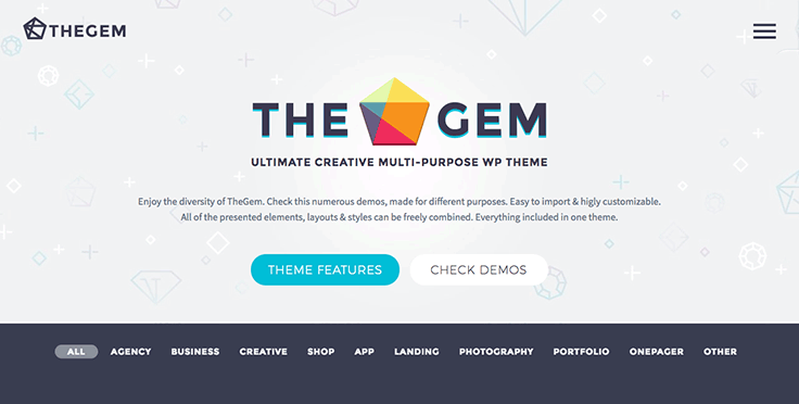 the gem wordpress theme
