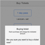ionic app buy tickets sms