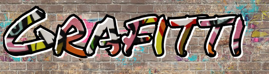 add grafitti texture on text with svg