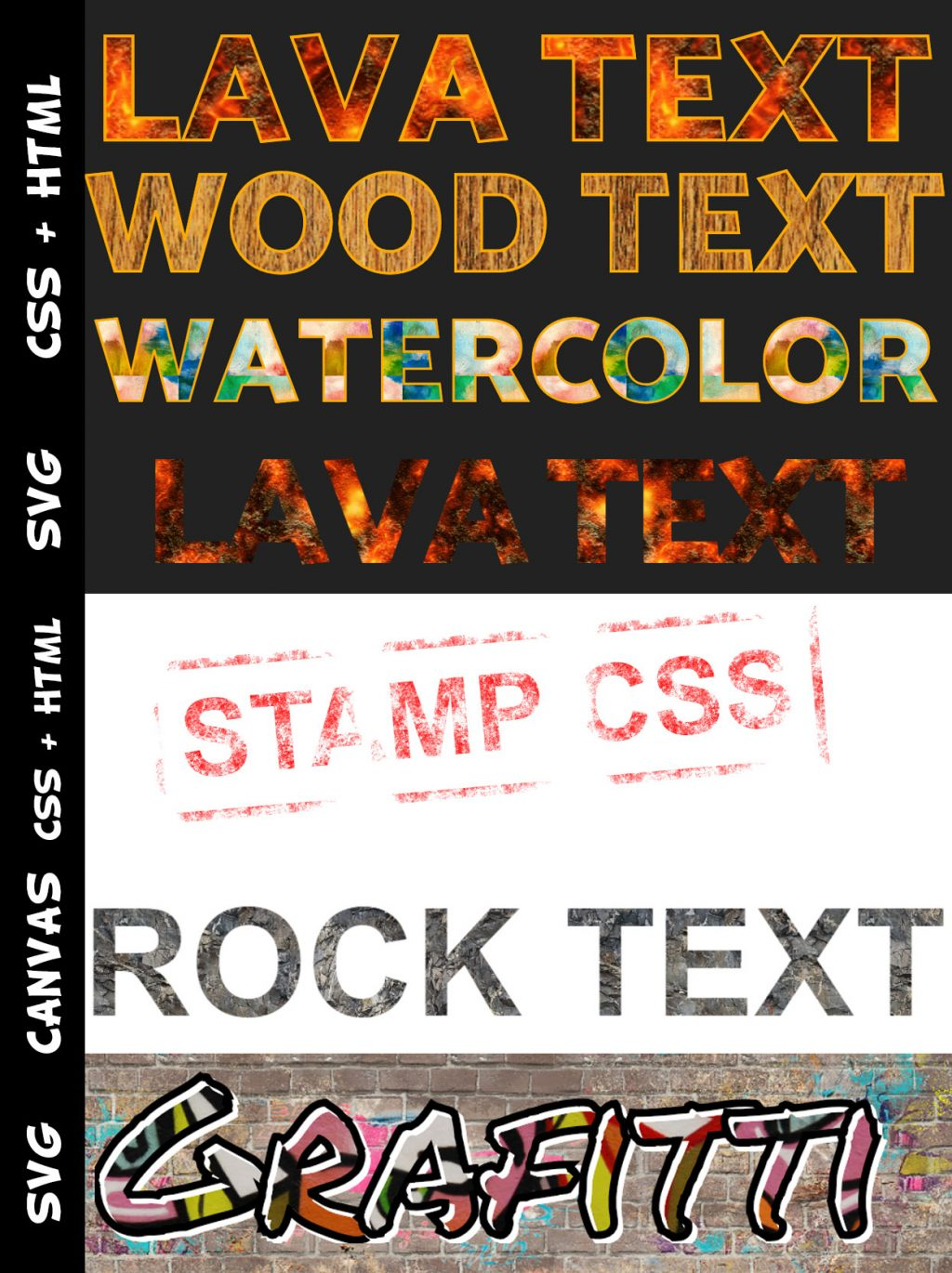 Applying An Image Texture On Text With HTML And CSS - Coding