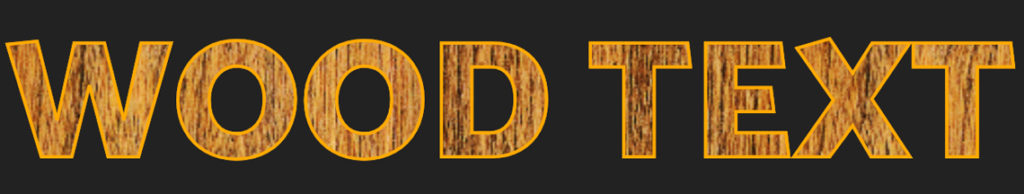 wood text with texture