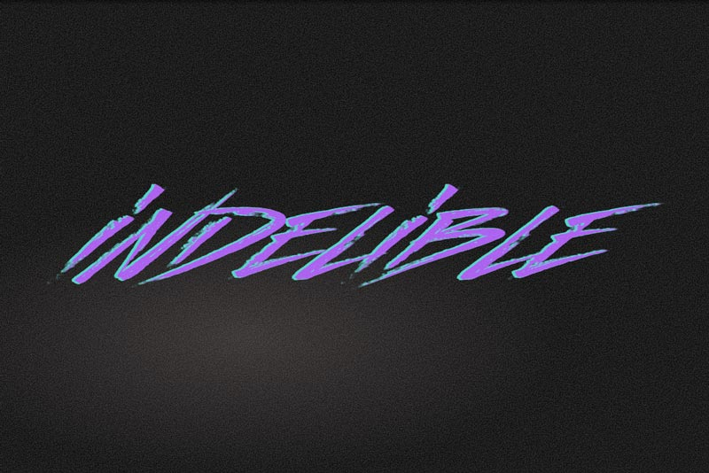 SVG Filter 80s Font Text Effect