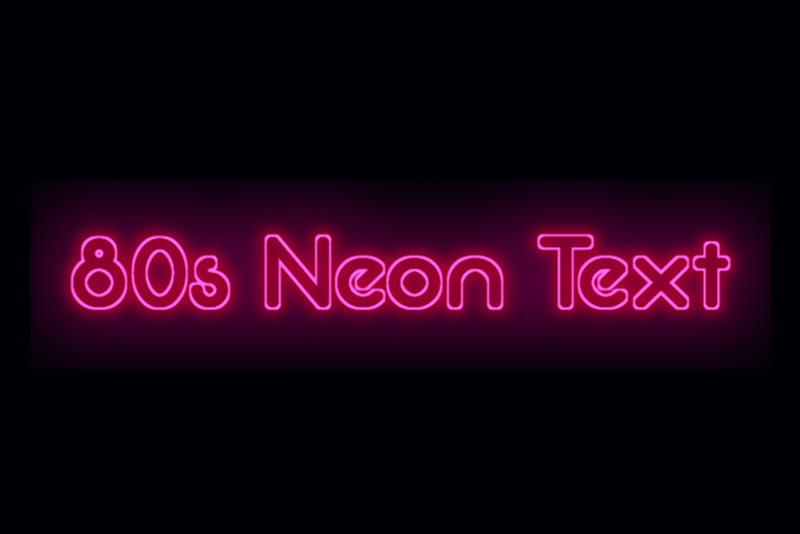 SVG Filter 80s Font Neon Text Effect