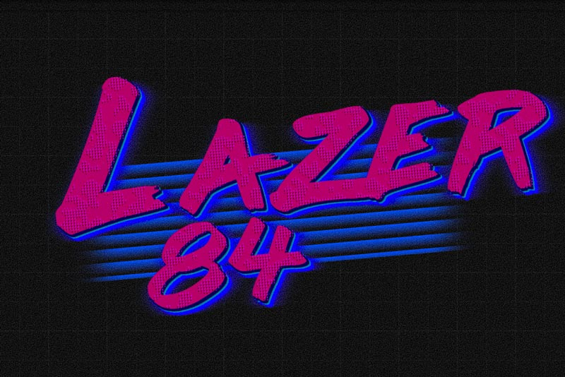 SVG Filter 80s Font Lazer Text Effect