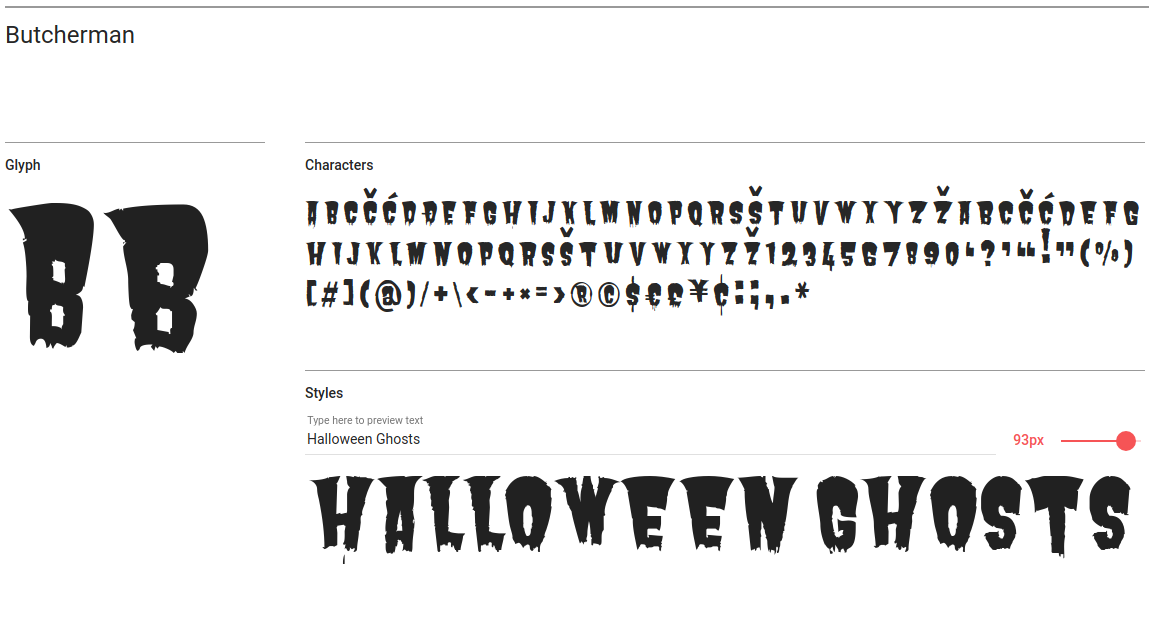 Free Halloween Fonts for Websites