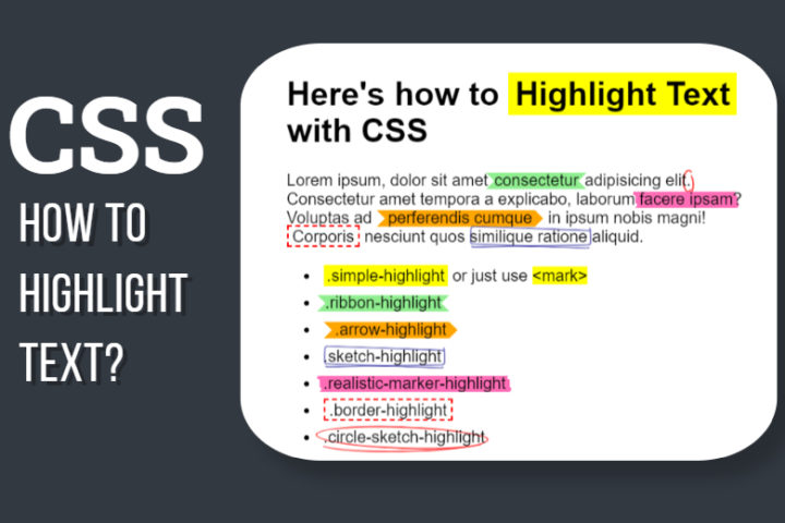 Highlight Text CSS