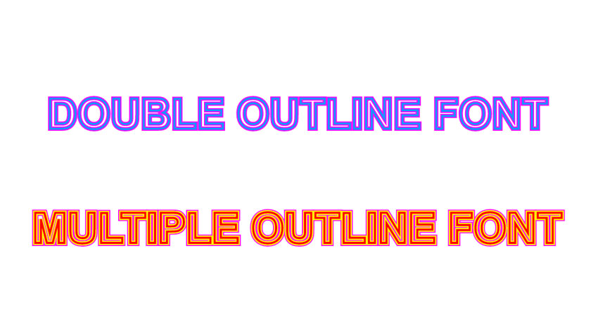 Double Outline Font