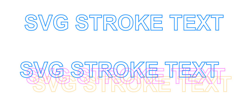 SVG Stroke Text CSS