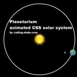 Planetarium CSS animated solar system