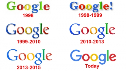 Google sucks every old Google logo design between 1998-2015