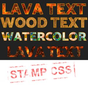 apply texture on text with css