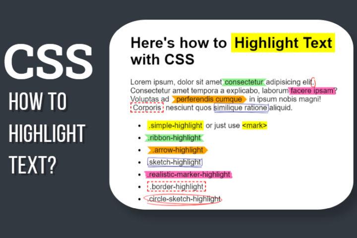 Highlight Text CSS