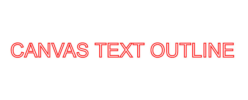 HTML5 Canvas Text Outline