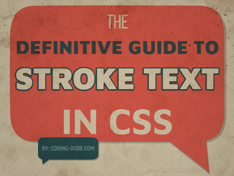 Stroke Text CSS